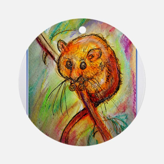 Mouse, wildlife, animal art Ornament (Round)