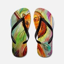 Mouse, wildlife, animal art Flip Flops