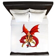 The Girl With the Red Dragon King Duvet