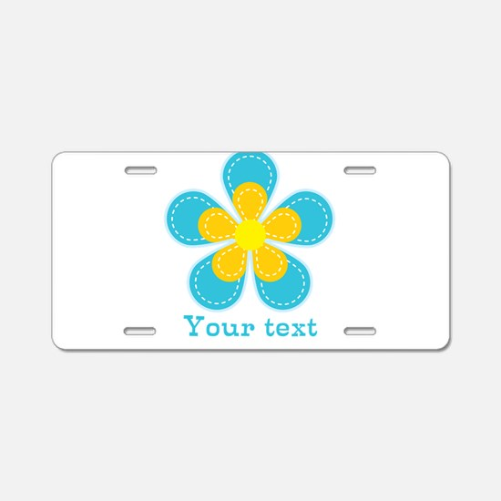 Cute Blue and Yellow Flower, Floral Kid's Aluminum