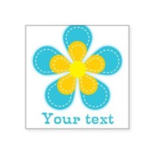 Cute Blue and Yellow Flower, Floral Kid's Sticker