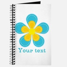 Cute Blue and Yellow Flower, Floral Kid's Journal