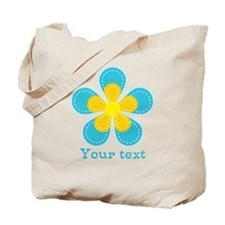 Cute Blue and Yellow Flower, Floral Kid's Tote Bag