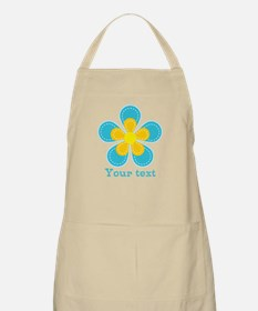 Cute Blue and Yellow Flower, Floral Kid's Apron