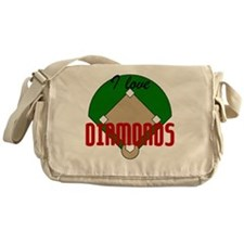 I Love Diamonds Messenger Bag