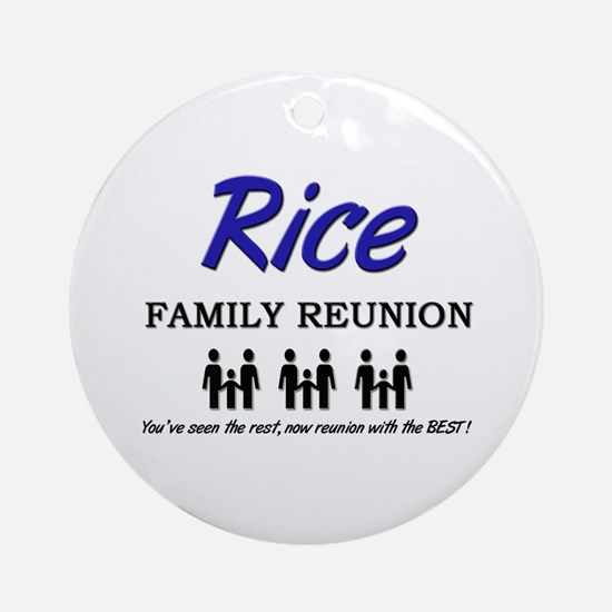 Rice Family Reunion Ornament (Round)
