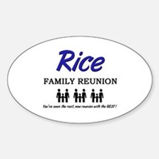 Rice Family Reunion Oval Decal