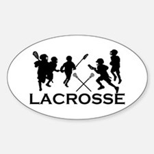LACROSSE TEAM - Oval Decal