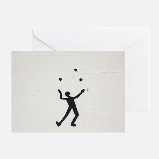Juggler Greeting Card
