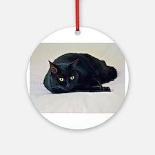 Black Cat! Ornament (Round)