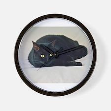 Black Cat! Wall Clock