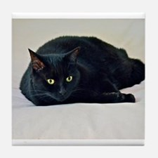Black Cat! Tile Coaster