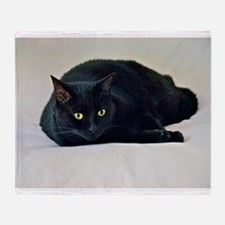 Black Cat! Throw Blanket