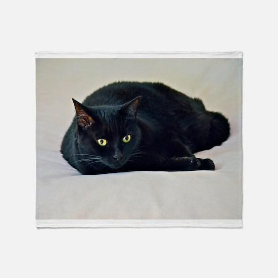 Black Cat! Throw Blanket