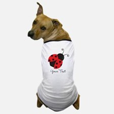 Red and Black Ladybug; Kid's, Girl's Dog T-Shirt