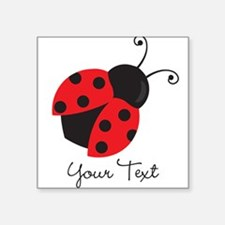 Red and Black Ladybug; Kid's, Girl's Sticker