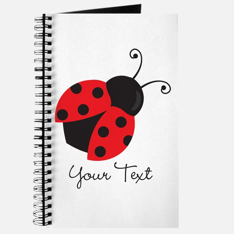 Red and Black Ladybug; Kid's, Girl's Journal