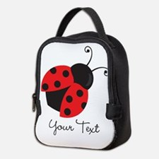 Red and Black Ladybug; Kid's, Girl's Neoprene Lunc