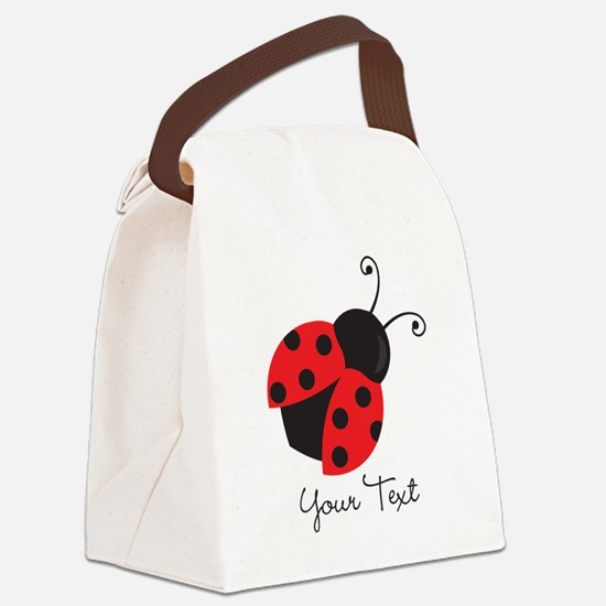 Red and Black Ladybug; Kid's, Girl's Canvas Lunch