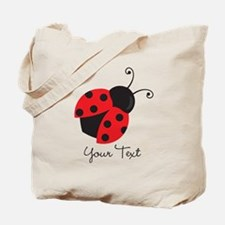 Red and Black Ladybug; Kid's, Girl's Tote Bag