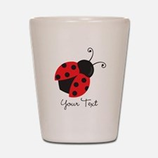 Red and Black Ladybug; Kid's, Girl's Shot Glass