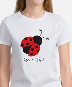 Red and Black Ladybug; Kid's, Girl's T-Shirt