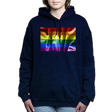 Gay Pride Rainbow Flag Women's Hooded Sweatshirt