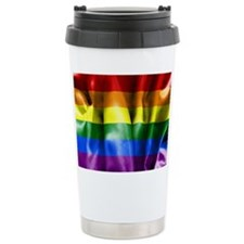 Gay Pride Rainbow Flag Travel Mug