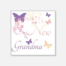 "New Grandma Square Sticker 3"" x 3"""