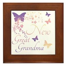 New Great Grandma Framed Tile