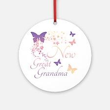 New Great Grandma Round Ornament