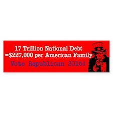 (bumper) National Debt Bumper Bumper Sticker