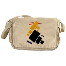 Malevich Abstract Rectangles Russian Messenger Bag
