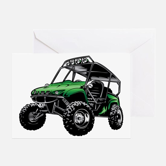 Cool Go cart racing Greeting Card