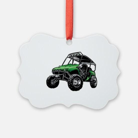 Cute Go cart Ornament