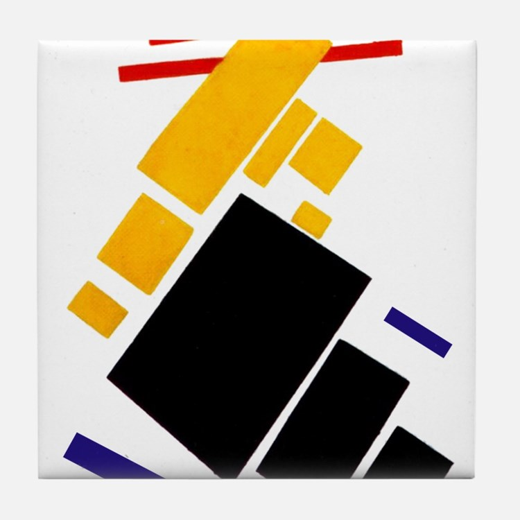 Malevich Abstract Rectangles Russian Tile Coaster