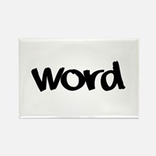 Word Statement Clothing and G Rectangle Magnet
