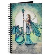 Aquamarine Dragon Fairy Fantasy Art Journal