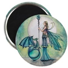 Aquamarine Dragon Fairy Fantasy Art Magnets