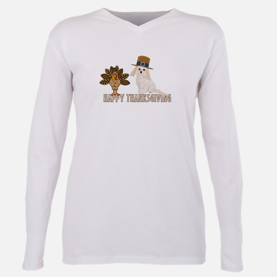 Cockapoo and Turkey Happy Thanksgiving T-Shirt