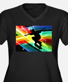 Skateboarder in Criss Cross Ligh Plus Size T-Shirt