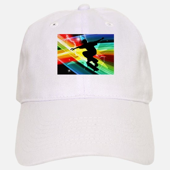 Skateboarder in Criss Cross Lightning.png Baseball Baseball Cap