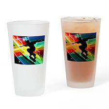 Skateboarder in Criss Cross Lightni Drinking Glass
