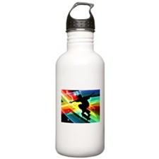 Skateboarder in Criss Water Bottle