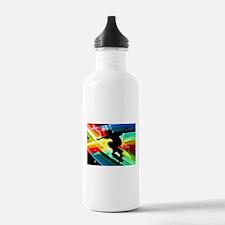 Skateboarder in Criss Water Bottle