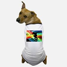 Skateboarder in Criss Cross Lightning. Dog T-Shirt