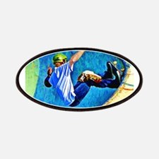 Skateboarding in the Bowl Patches
