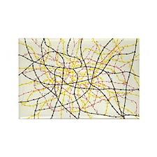 Subway map Rectangle Magnet