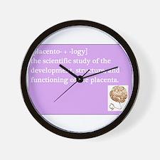 placentology Wall Clock