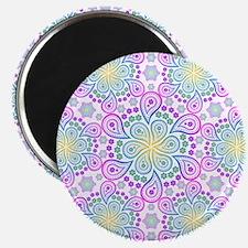 Paisley Flower Fractal Magnets